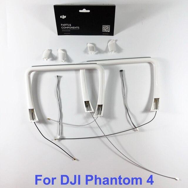 Genuino DJI Phantom 4 Parte 26 carrello di Atterraggio Costruito in Antenna & Compass & Cover per P4 RC Quadcopter di ricambio Parti di Riparazione