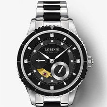 Top Luxury Brand LOBINNI Women Watches Japan MIYOTA Automatic Mechanical Clock Sapphire Diamond Skeleton Ladies Watch L2018-2
