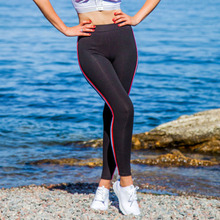 e735fab2c58 High Quality Cotton Leggings Side Stripes Women Casual Legging Pant Plus  Size High Waist Fitness Leggings