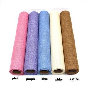 Wysokiej jakości 50*450 cm konopie pościel bawełniana tkaniny tkanki włókna tekstury kwiatowy okłady papier do pakowania kwiatów prezent wrap kwiaciarnia dostaw