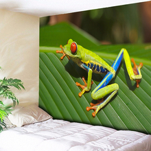 Frog Leaf Macro Printed Wall Tapestry Hanging Art Decor Rug Nature Animals Decoration Psychedelic Tapestries Boho Fabric