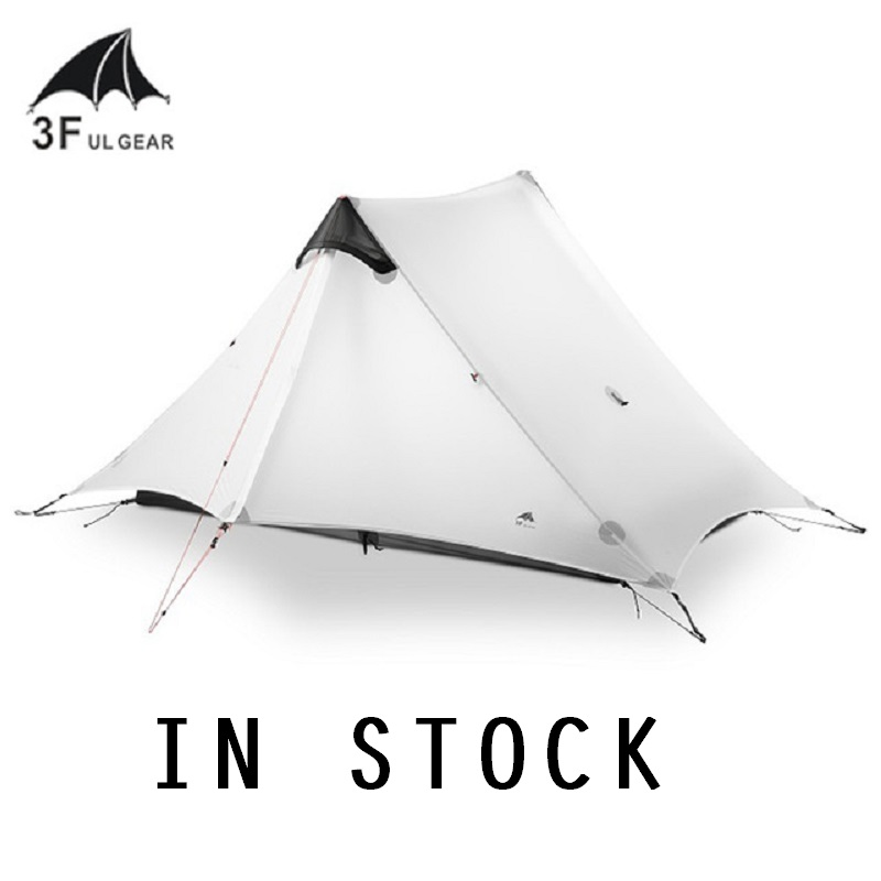 3F UL GEAR 2 Person Camping Tent Non Pole 2 Man Ultralight UL Tarp Tent Outdoor