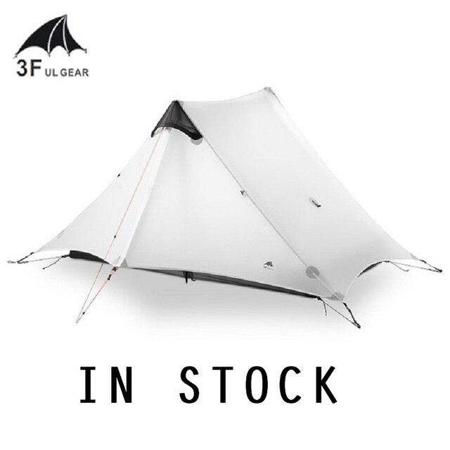 3F UL GEAR 2 Person Camping Tent Non Pole 2 Man Ultralight UL Tarp Tent Outdoor Camp Equipment LanShan 2