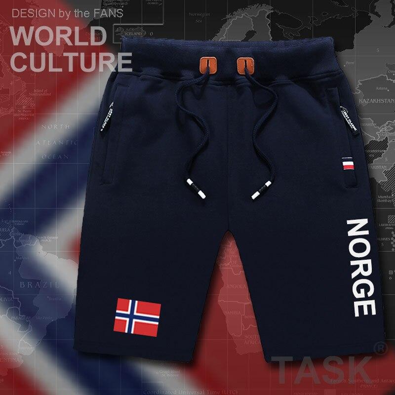 Norway Norge Mens Shorts Beach New Men's Board Shorts Flag Workout Zipper Pocket Sweat Bodybuilding Casual Norwegian Nordmann