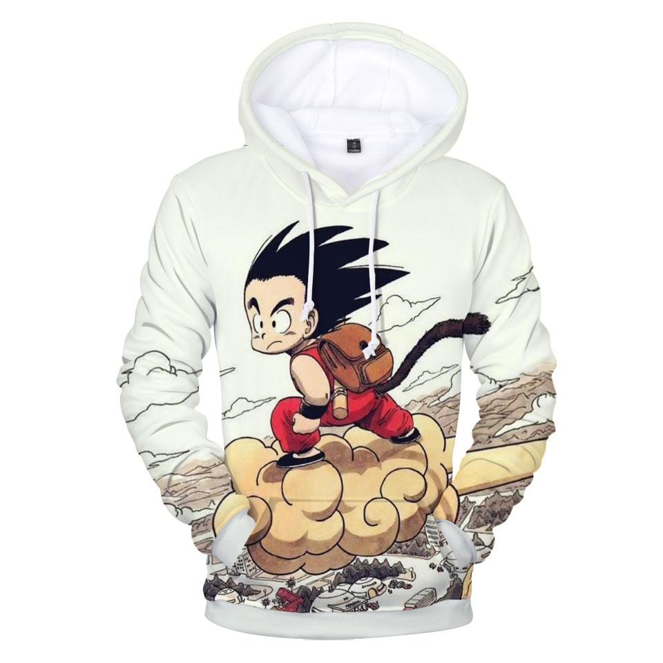 Basic Jackets Kpop 3d Print Dragonball Goku Super Saiyan Anime Baseball Jacket Women Fashion Casual Autumn Winter Hip Hop Baseball Jacket