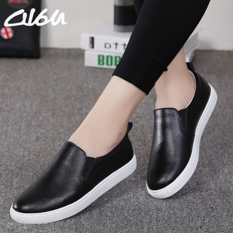 I Sole White Faux Leather Casual Shoes