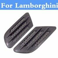 Car Shark Gill Shape Intake Grille Wind Net Sticker For Lamborghini Aventador Gallardo Murcielago Reventon Sesto