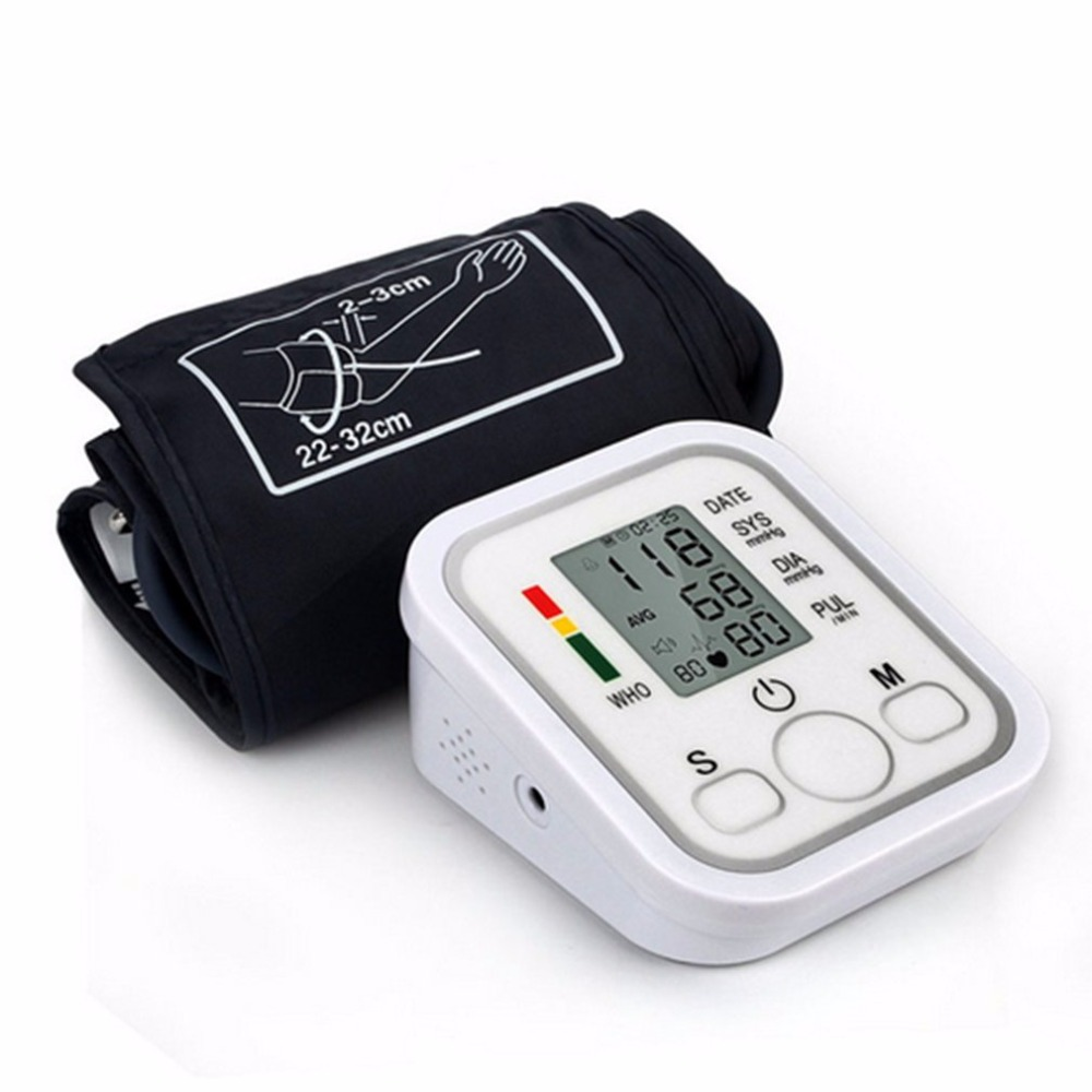 Arm Type Electric Voice Tonometer Meter Health Care 99 Memory Blood Pressure Monitor Pulse Oximeter Sphygmomanometer new glucose meter with high quality accessories urine disease glucose meter test article 50 pc free blood 50 pcs of health care