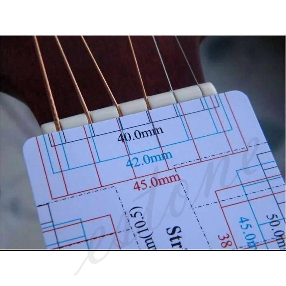 New Guitar Bass Fritz Ruler String Pitch Ruler Action Ruler Card Vernier Caliper