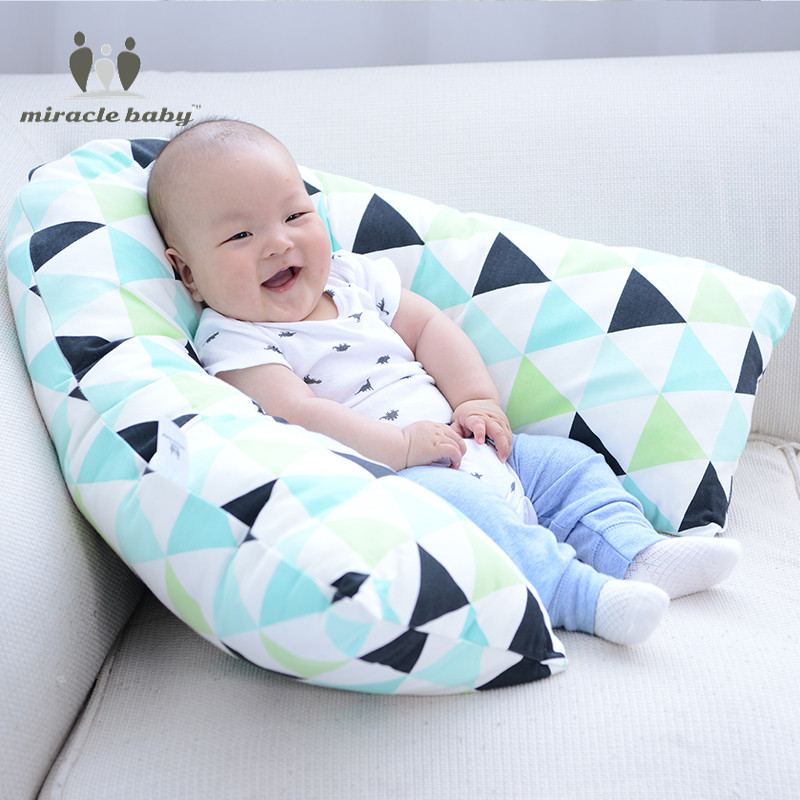 Miracle Baby Cotton Multifunction V-Shaped Infant baby Breastfeeding Pillow Slip Protect Waist Support Big Nursing pillow97X74cm multifunction nursing pillow cuddle u breastfeeding pillow maternity nursing pillow