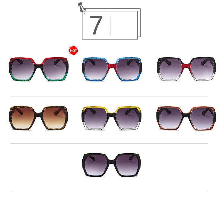 19 Oversized Sunglasses for Women Brand Designer Retro Sun glasses Red Green Shades Eyewear sunglasses woman 5