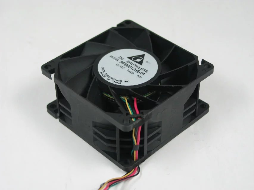 Delta PFM0812HE-01 A01 DC 12V 7.00A 6-pin 80x80x38mm Server Square fan free shipping for delta afc0612db 9j10r dc 12v 0 45a 60x60x15mm 60mm 3 wire 3 pin connector server square fan