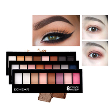 цены Professional Matte Eye Shadow Palette Nude Makeup 8 Colors Waterproof Shimmer Eyeshadow With Brush Cosmetic