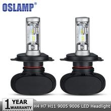 Oslamp H4 Hi lo автомобилей светодиодный лампы H7 H11 9005 9006 50 Вт 8000LM 6500 К CSP светодиодный авто фары противотуманные лампы освещения лампы 12 В 24 В