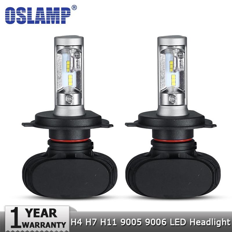 Oslamp H4 Hi lo Car LED faro bombillas H7 H11 9005 9006 50 W 8000LM 6500 K CSP Led Auto faro lámpara LED Bombilla de iluminación 12 V 24 V