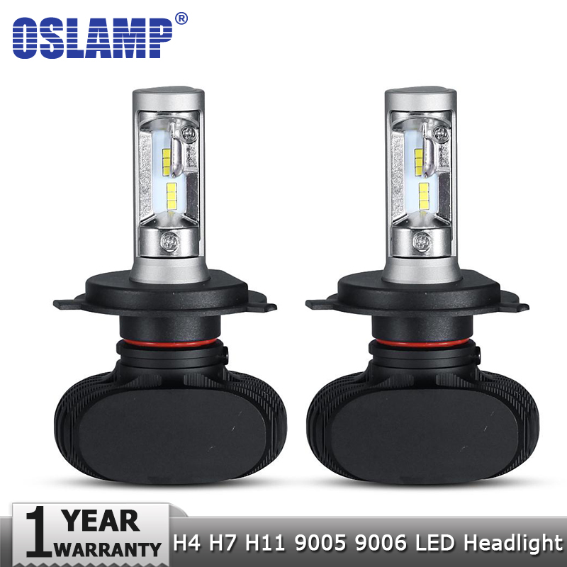 Oslamp H4 Hi lo Carro LEVOU Lâmpadas Dos Faróis H7 H11 9005 9006 CSP 50 w 8000LM 6500 k Levou Auto farol Lâmpada LED Lighting Lâmpada 24 12 v v