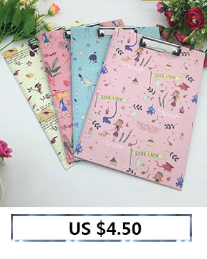 6  Cute Flower sequence A4 folder board Pill holder paper writing pad clipboard for little one reward workplace provides/ stationery four colours HTB1n2APb5b