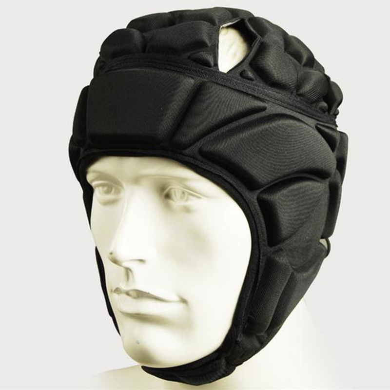 Survetement Football Helmet New Mens Soccer Goalkeeper Helmet Sports Rugby Cap Headguard Helmet Goalie Roller Hat Head Protector ...