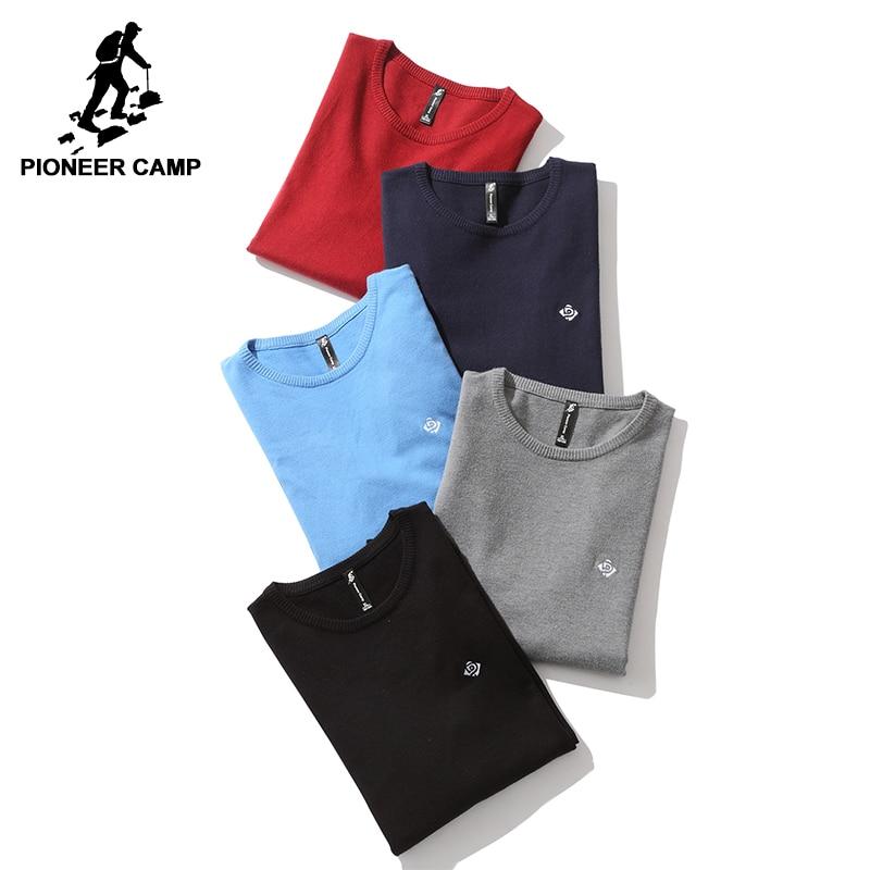 Camp pionnier nouvelle de base classique hommes chandail marque-vêtements simple pull solide mâle top qualité pull-over d'automne AMS705190
