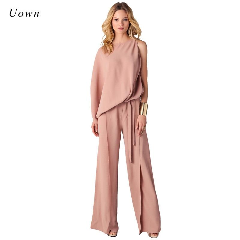 long pants romper wide leg jumpsuit for women 2018 autumn
