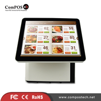 High Quality Double Pure Screen Pos System All In One Built In Wifi Second Display Without