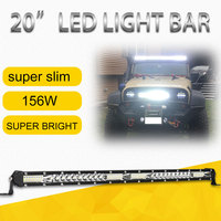 20inch 156w Led Light Bar Super Slim Offroad Led Bar Combo for jeep Tractor Truck Boat 4WD 4x4 ATV Led Work Light 12V