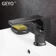 Kitchen Black Antique Copper Bathroom Faucets Basin Faucets Brass Oil Rubbed Bronze  Faucet Bathroom Shower Hot Cold Mixer  Tap