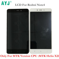 AYJ AAA Quality LCD Screen Display Frame For Xiaomi Redmi Note 4 MTK Helio X20 Version
