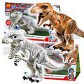 Bela 79151 mundo jurásico rex indominus zach simon masrani dinosaurio compatible con lego bloques de construcción