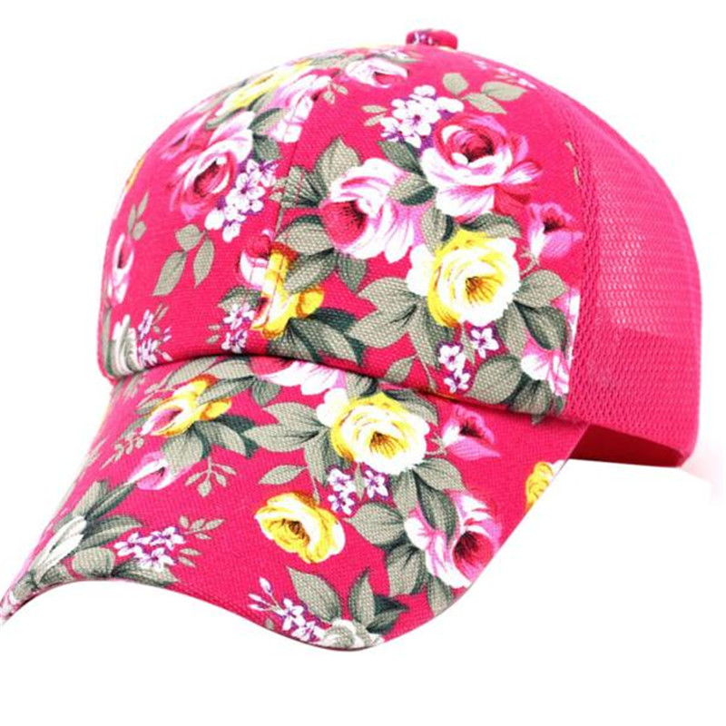 Новое Прибытие высокого качества Женская мода cap Красочный цветок вышивка Бейсболка snapback Регулируемая Sunhat casquette cap