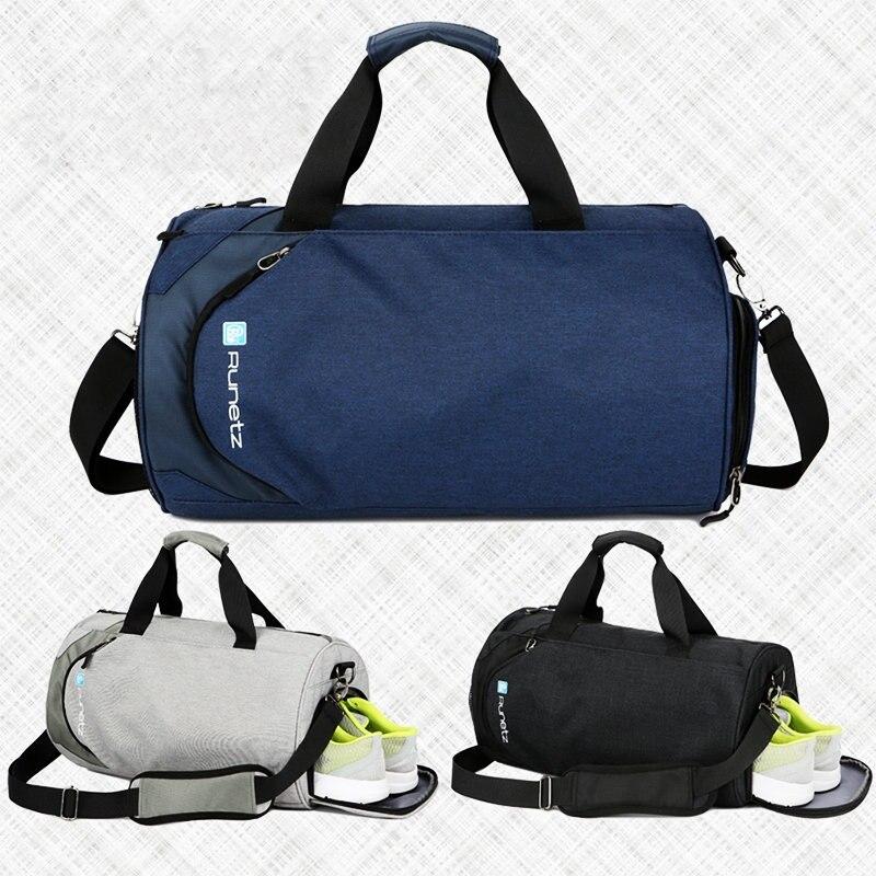 Sacs de sport imperméables hommes grand sac de sport avec compartiment à chaussures 2019 sac de fitness femme yoga sac de voyage en plein air sac de bagages à main-in Gym Sacs from Sports et Loisirs    3