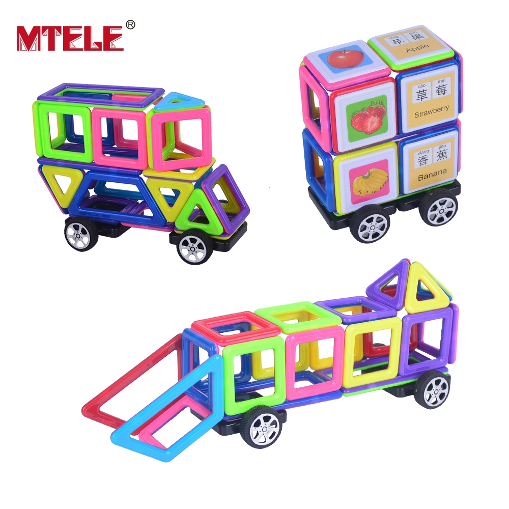 MTELE Brand High Quality Mini Magnetic Designer Building Block Toys 48/78/104PCS 3D DIY Construction For Children 4 4 new violin case black white red blue color glass fiber light strong g10018 music bag