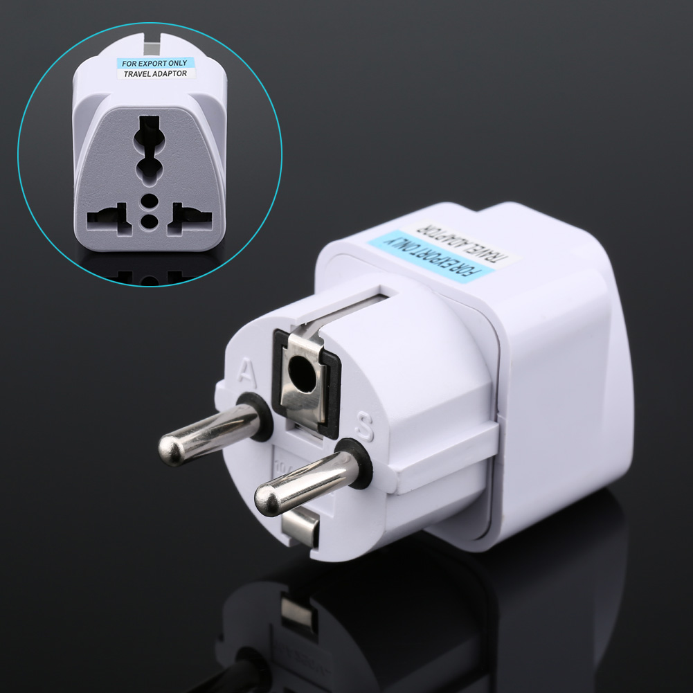 Universal US UK AU To EU Plug USA To Euro Europe Travel Wall AC Power Charger Outlet Ada ...