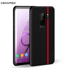 For Samsung S9 Case Original Luxury Carbon Fiber Leather Back Cover for Galaxy S8 S10 Plus S10e Note 9