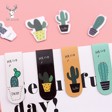 4 Style /Set Fresh Cactus Sakura Magnetic Bookmarks Books Marker of Page Student Stationery School Office Supply sf1361 page 4