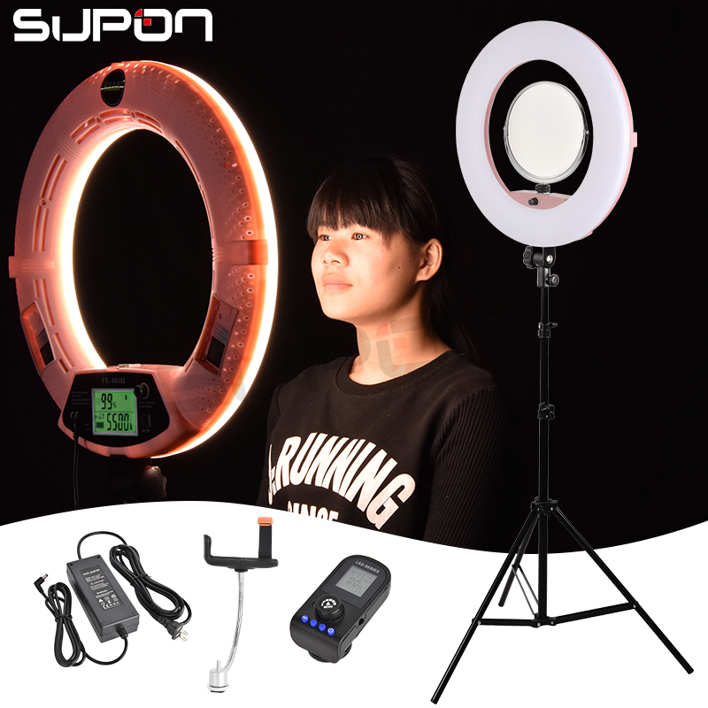 SUPON Selfie Ring Light Host Ring Led FE-480II 3200K-5500K Dimmable Camera Photo/Studio/Phone/Video 96W LED Adjusted Light Lamp