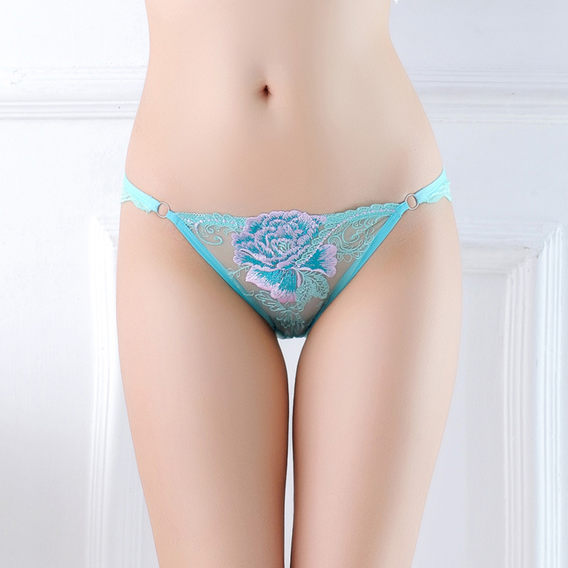 7color Gift beautiful lace leaves Women's Sexy lingerie Thongs G-string Underwear Panties Briefs Ladies T-back 1pcs/Lot WQ855