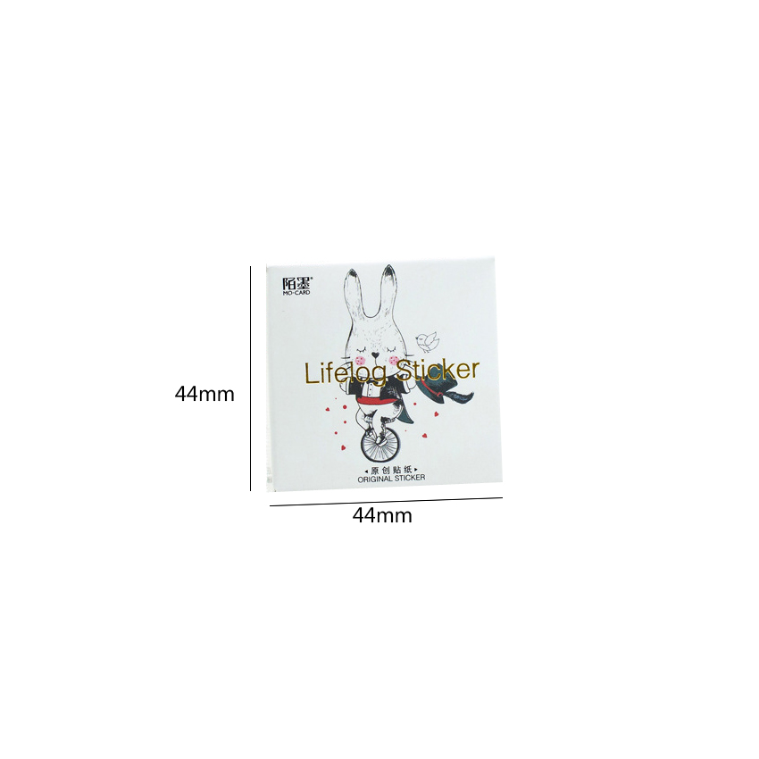 Купить с кэшбэком 45pcs/lot Hello Bunny Cute Bunny Hand Account Album Children Dairy Sticker