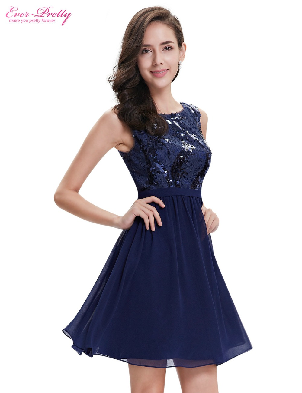 Clearance Sale] Ever Pretty Cocktail Dress AP05330NB Navy Blue ...