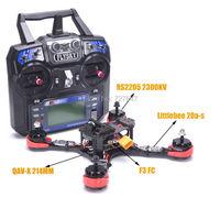 Ready to Fly FPV QAV X 214mm Frame RS2205 2300kv Motor F3 Flight Control Littlebee 20a S ESC For QAV X 210 QAV R