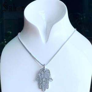 Image 4 - Pendant Hand of Fatima silver color For Women & Men Gift Jewelry Pendant Fit Necklace thomas