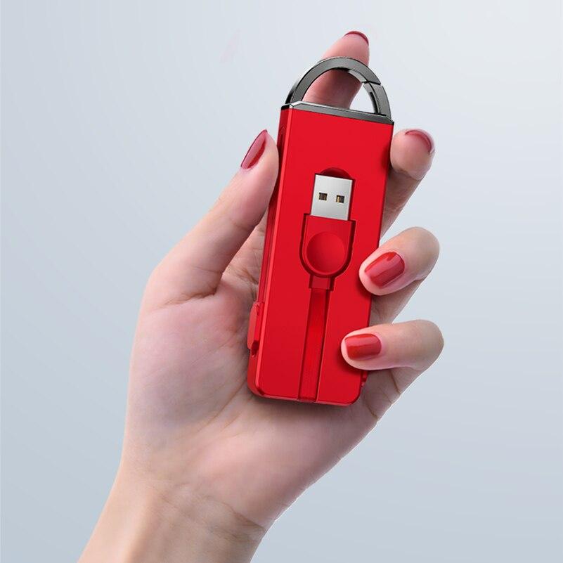 3 en 1 Usb Cable tipo C mi cro para el IPhone X 8 7 6 6 s más llavero carga oculta para Xiao mi x 2 s A1 5