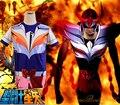 Free Shipping Saint Seiya Bronze Saint Ikki Phoenix Cloth Summer T-shirt Anime Cosplay Costume