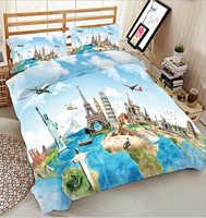 Juego de ropa de cama de tamaño king de lujo azul marino 3d cama de Reina doble sábana equipada estilo de sábana edredón funda de cama de California el rey