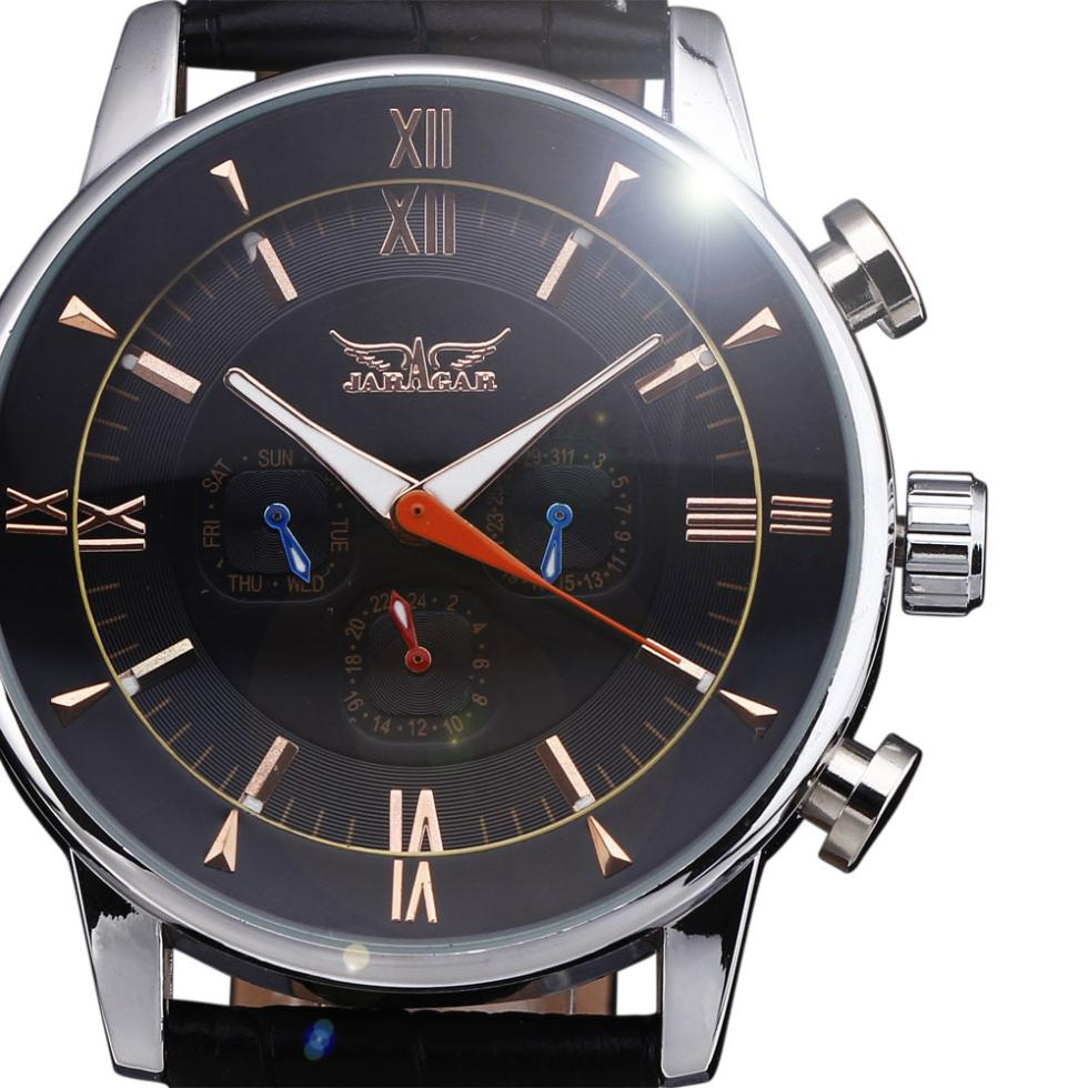 f3df20241 JARAGAR تقويم كامل توربيون السيارات الميكانيكية رجالي ساعات أعلى العلامة  التجارية الفاخرة ساعة معصم erkek kol saati Montre Homme