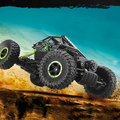 1:18 brinquedo do carro RC 2.4 G 4WD Rock Crawlers 4 condução automóvel Double motores de acionamento pé grande modelo de carro veículo Off Road 25 KM/H