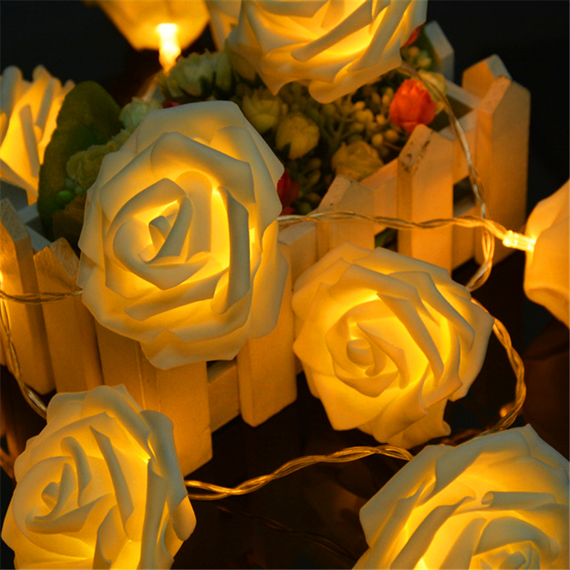 Battery guirlande lumineuse led garland Rose string lights Christmas lights luces decorativas wedding decoration indoor lighting