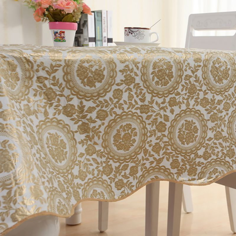 Home PVC Vinyl Tablecloths Plastic Waterproof Dining Party Table Cover Protector