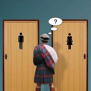 Decals-Bar Mirror-Sticker Toilet-Door Bathroom Diy Acrylic Home-Decor Women Wall 20cm