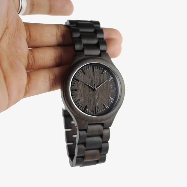 TO MY BOYFRIEND ENGRAVED WOODEN WATCH IN YOUR EYES I HAVE FOUND MY HOME 3